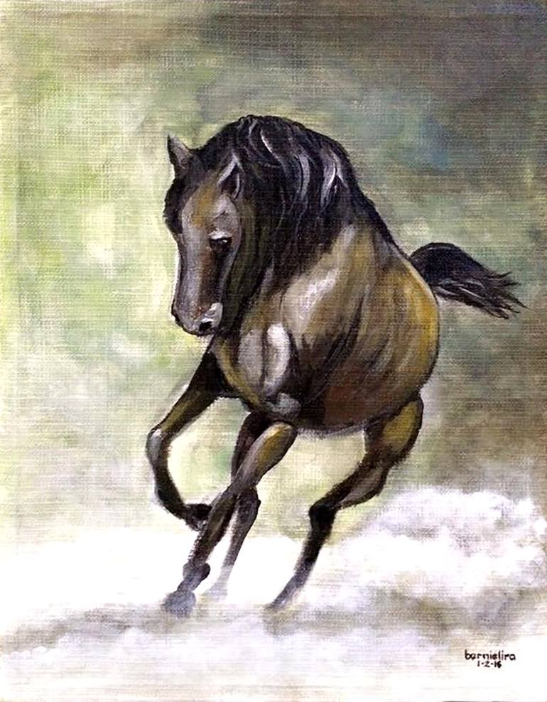 770x988 Saatchi Art Galloping Horse Painting By Bernardo Lira