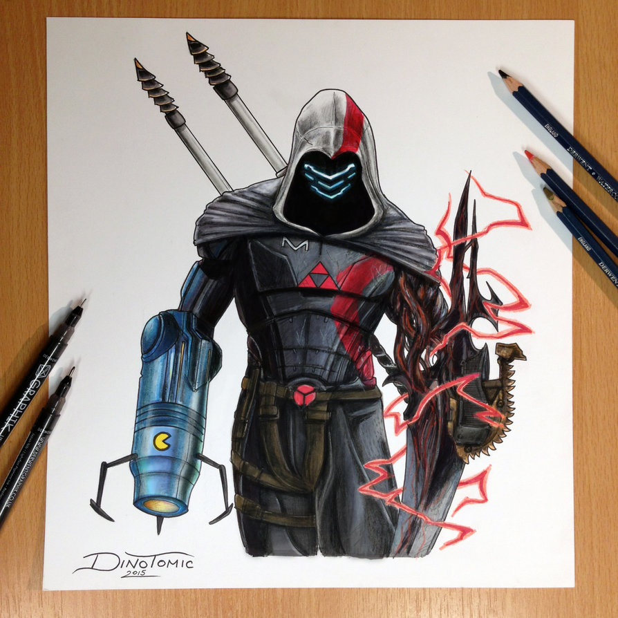 894x894 17 Game Character Combined Into One Pencil Drawing By Atomiccircus