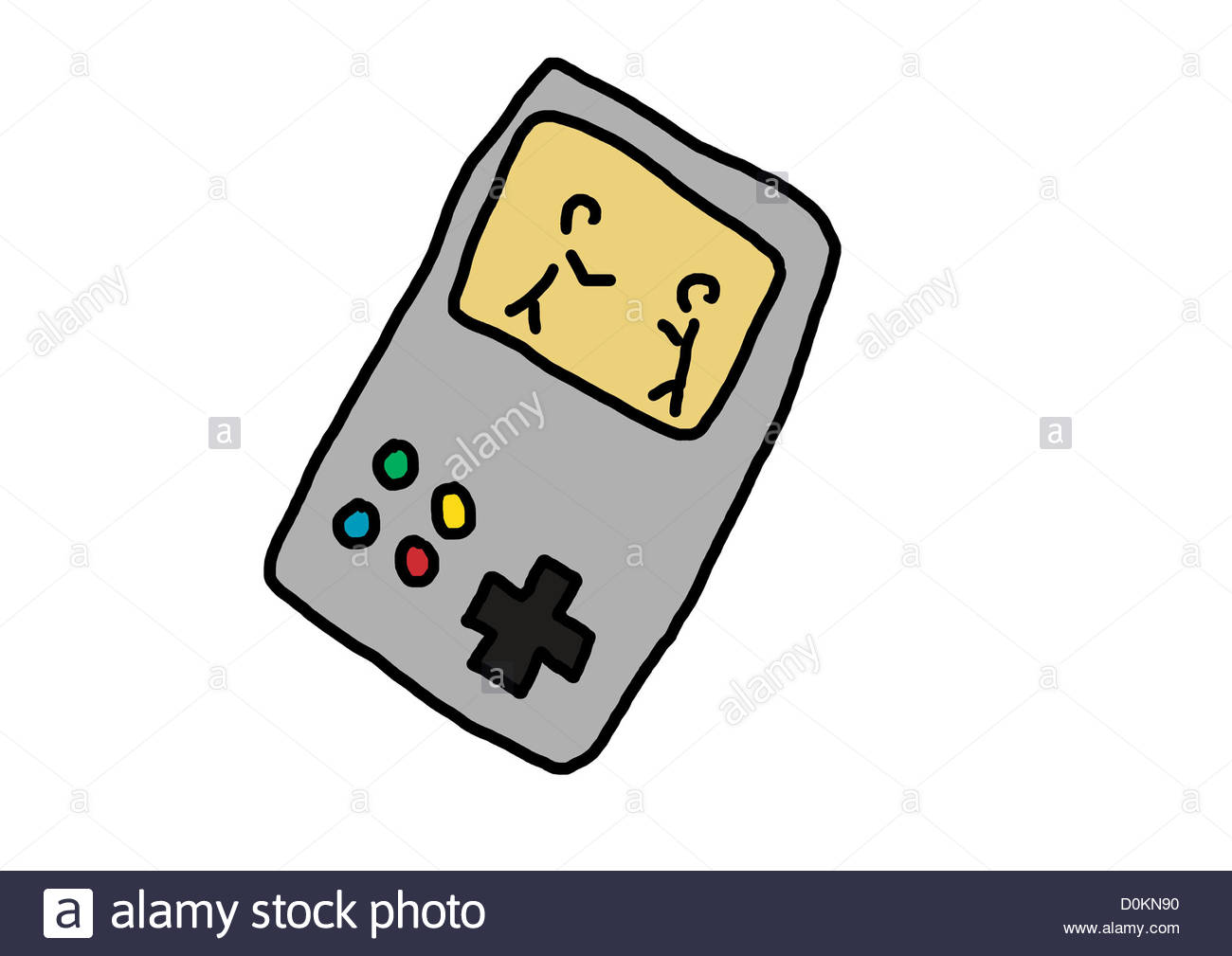 1300x1009 Game Console Kids Computer Drawing Illustration Pictogram Stock
