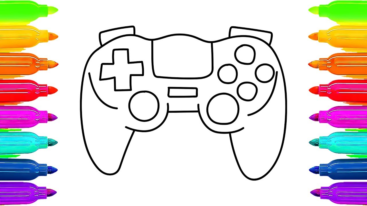 1280x720 How To Draw Game Console Children, Coloring Pages Toys