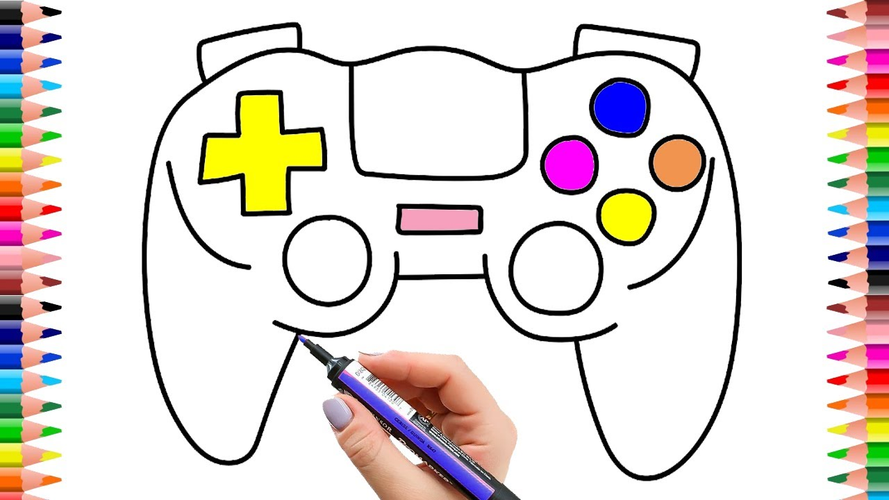 1280x720 How To Draw Game Console For Children