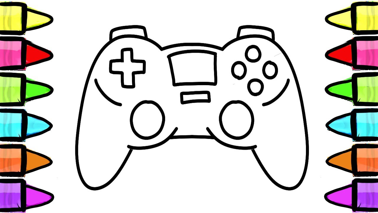 1280x720 How To Draw Gamepad Console, Controller, Coloring Book