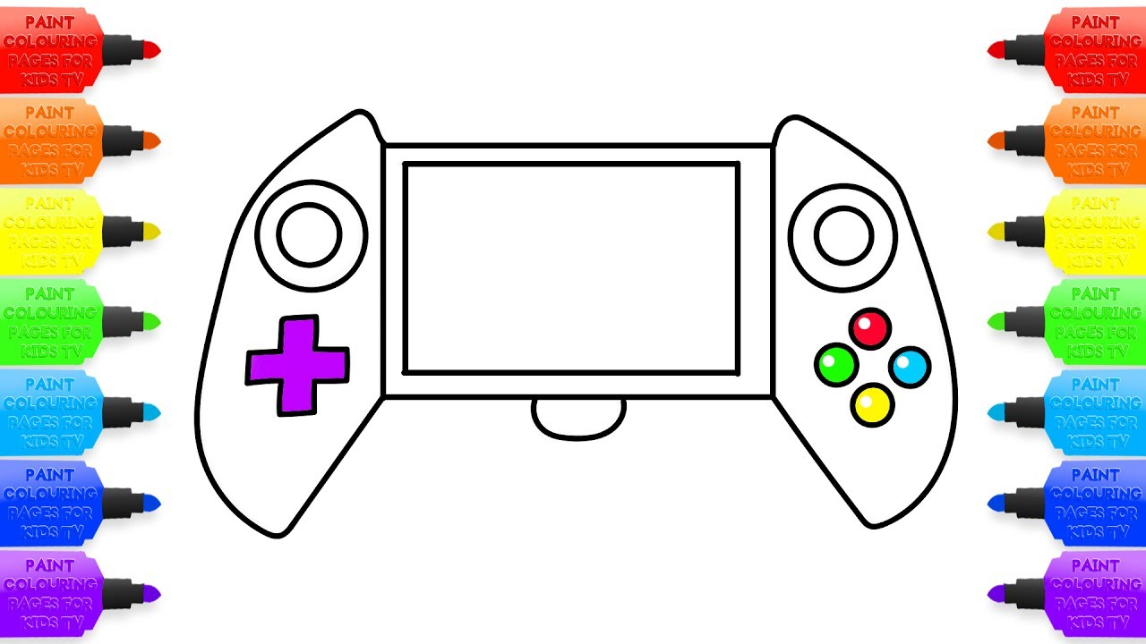 1280x720 How To Draw Portable Gaming Console Children Art Colors