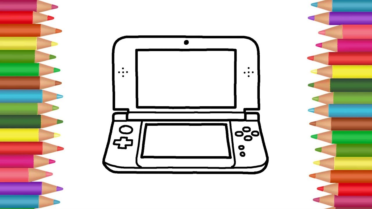 1280x720 How To Draw A Handheld Game Console Drawing And Coloring Book