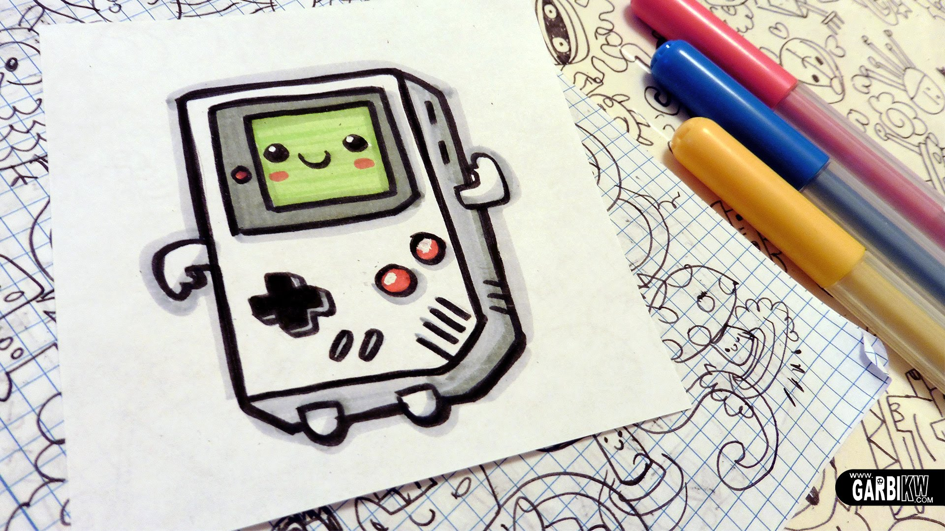 1920x1080 How To Draw A Cute Game Boy
