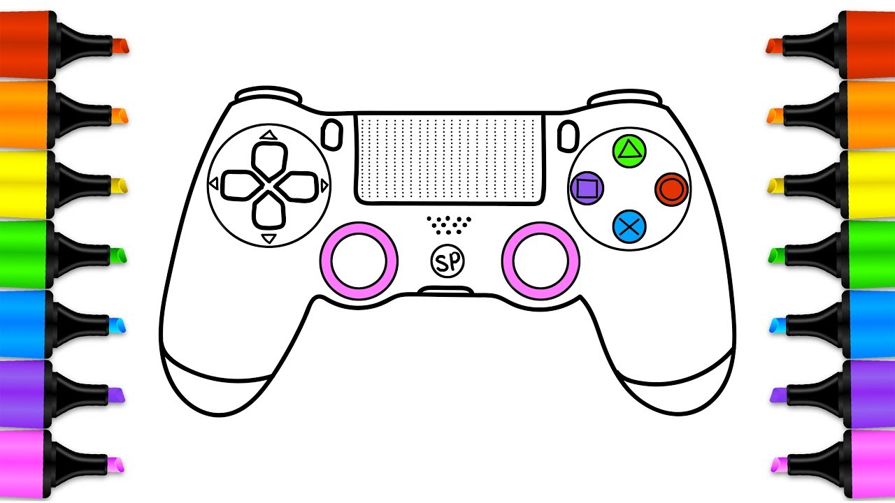 1280x720 How To Draw Gamepad, Controller, Coloring Book For Children Art