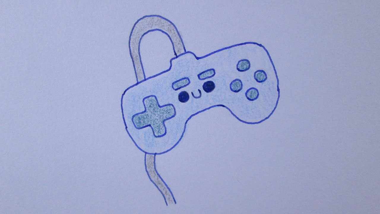 Gaming Controller Drawing at GetDrawings com   Free for