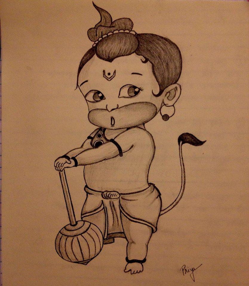 834x958 Bal Ganesh Pencil Draw