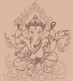 236x262 Beautiful Ganapathi Pencil Drawings, Lord Ganesha Pencil Sketch