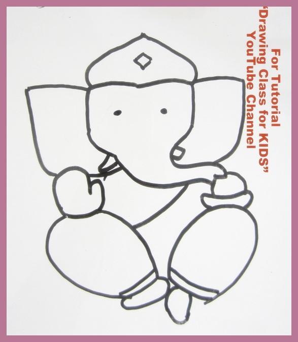 587x673 Ganesh Chaturthi Special Ganesha Ganpati Drawing For Kids 20 Non