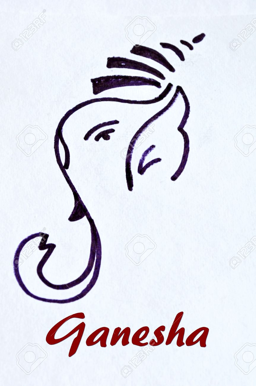 863x1300 Ganesha Drawing Stock Photo, Picture And Royalty Free Image. Image
