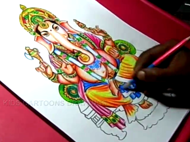 640x480 How To Draw Hindu God Lord Ganesha Drawing Step By Step For Kids