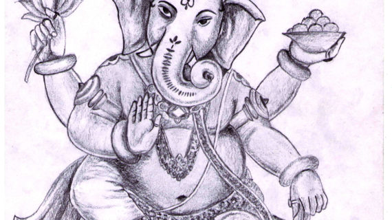 570x320 Simple Drawing Of Lord Ganesha Pix For Gt Simple Ganesh Sketch
