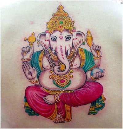 400x421 Best Ganesh Tattoos