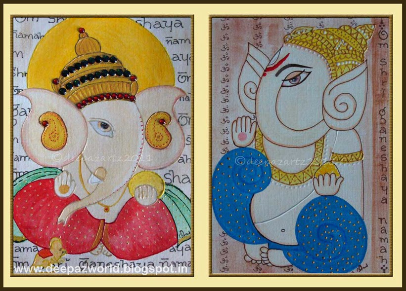 821x590 Hues N Shades 5 Simple Drawings Of Ganesha For Ganesh Chaturthi