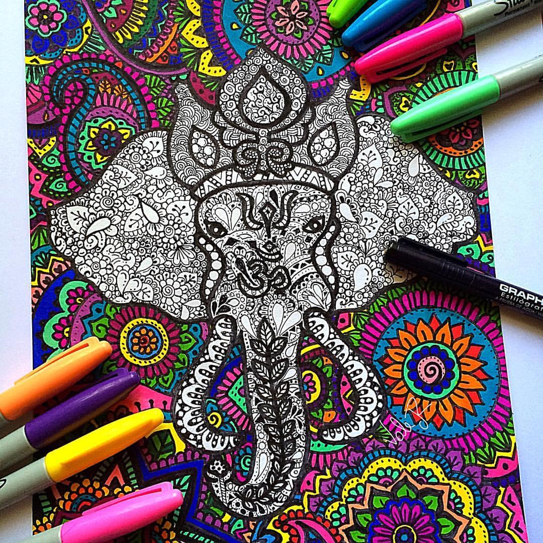 Ganesha Color Drawing at GetDrawings   Free download