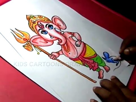 480x360 How To Draw Lord Bala Child Ganesha Drawing For Kids Step By