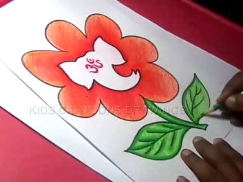 480x360 How To Draw Lord Flower Ganesha Drawing For Kids Step By Step