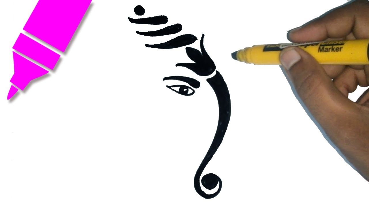1280x720 How To Draw Lord Ganesha Drawing For Kids Step By Step Ganesh