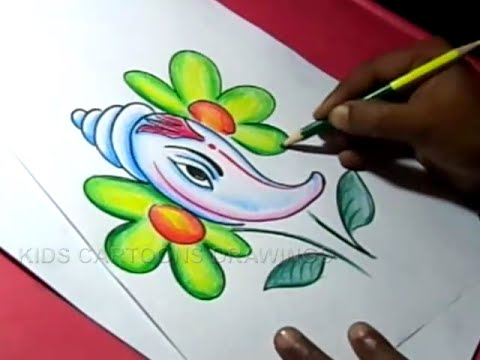 480x360 How To Draw Shanku Ganesha Drawing For Kids Step By Step