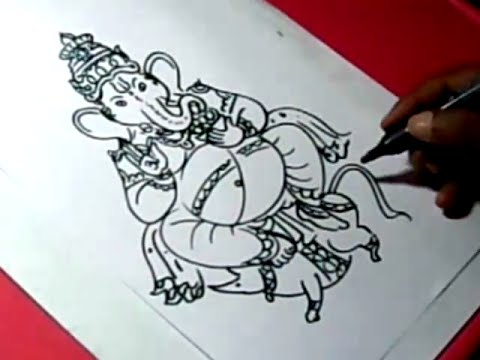 480x360 How To Lord Ganesha Drawing For Kids Step By Step
