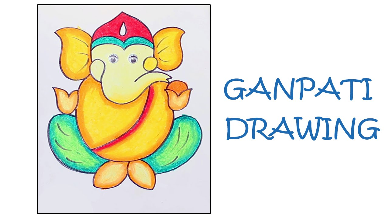 1280x720 Learn How To Draw Ganpati Free Hand Drawing For Kids Lord