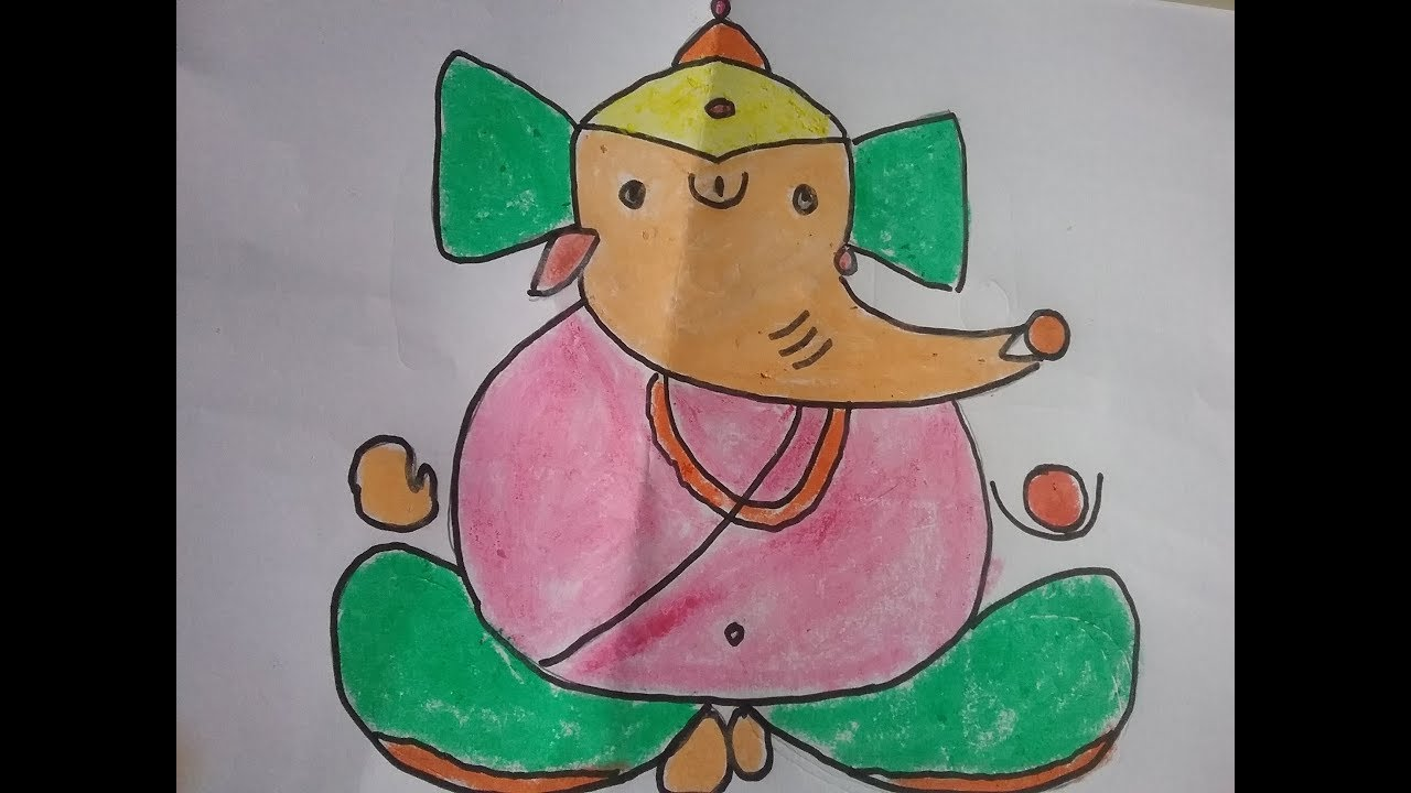 1280x720 Lord Ganesh Drawing For Kids, Simple Ganesha Drawing For Kids