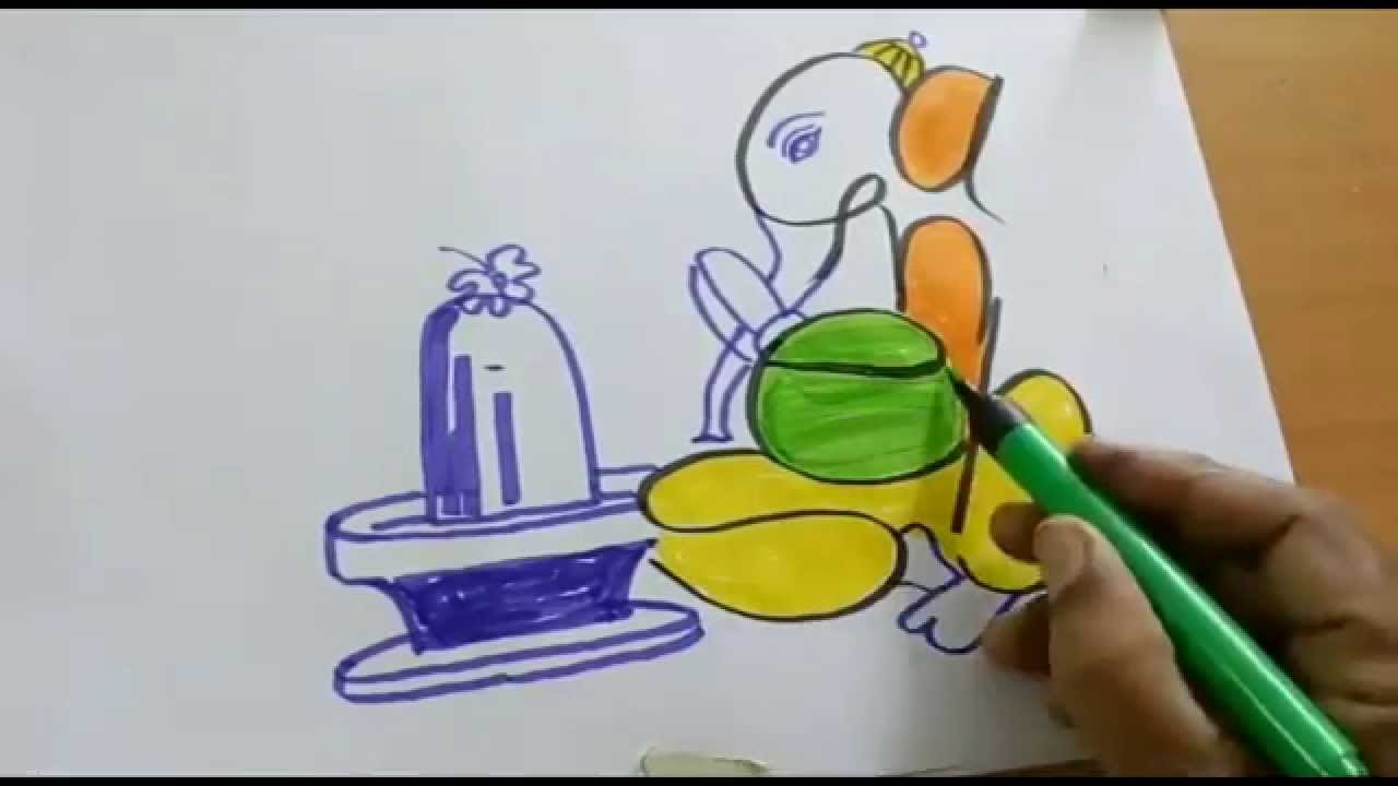 1280x720 How To Do Ganesha Drawing Step By Step For Kids