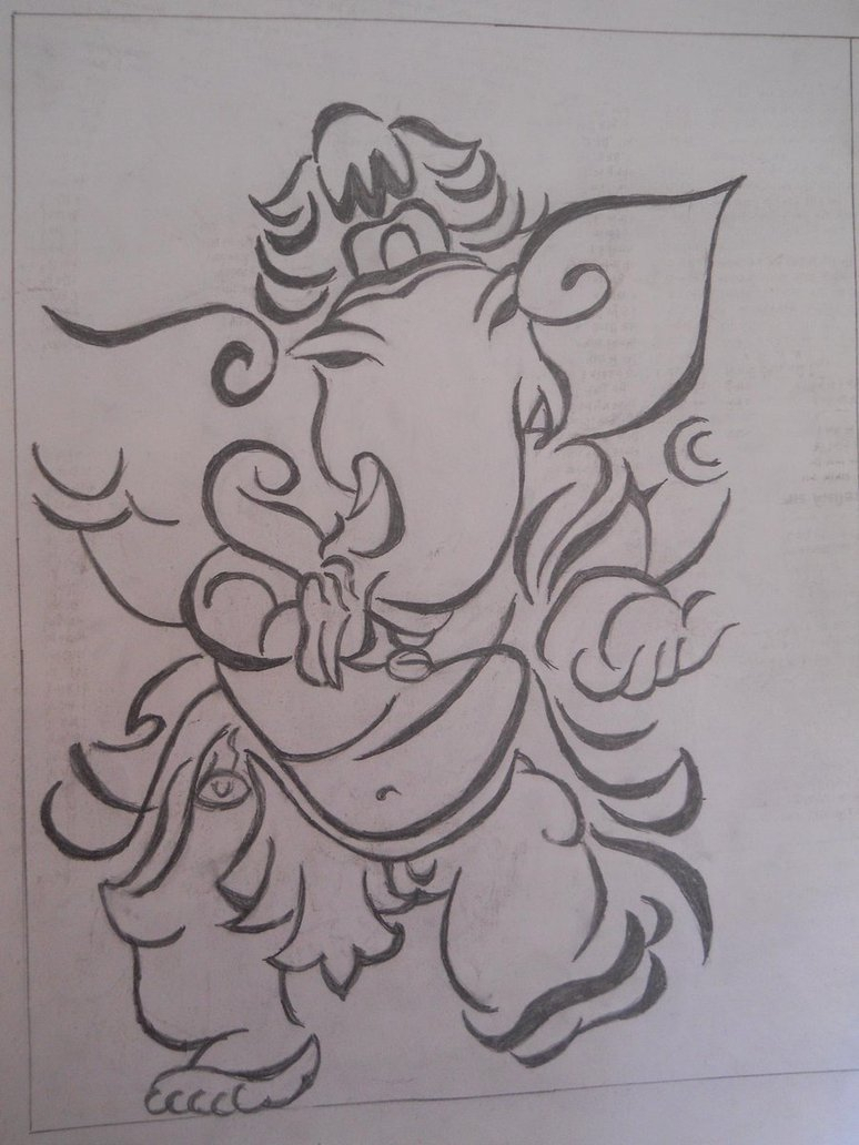 774x1032 Easy Outline Pencil Drawings Of Lord Ganesha Easy Outline Pencil