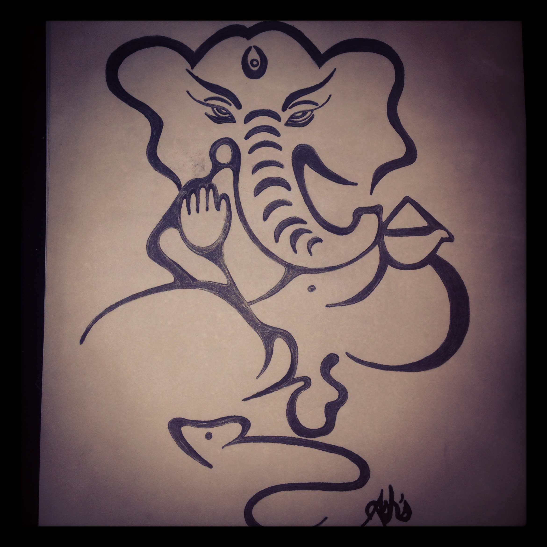 2340x2340 Ganesha My Drawings