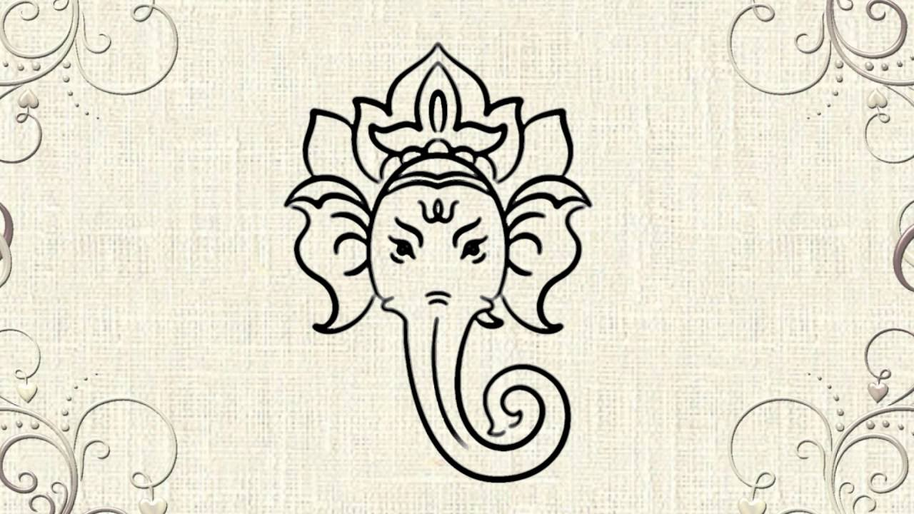 1280x720 How To Draw Lord Ganesha