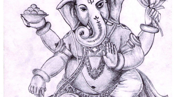 570x320 lord ganesha pencil sketches simple pencil sketches of lord