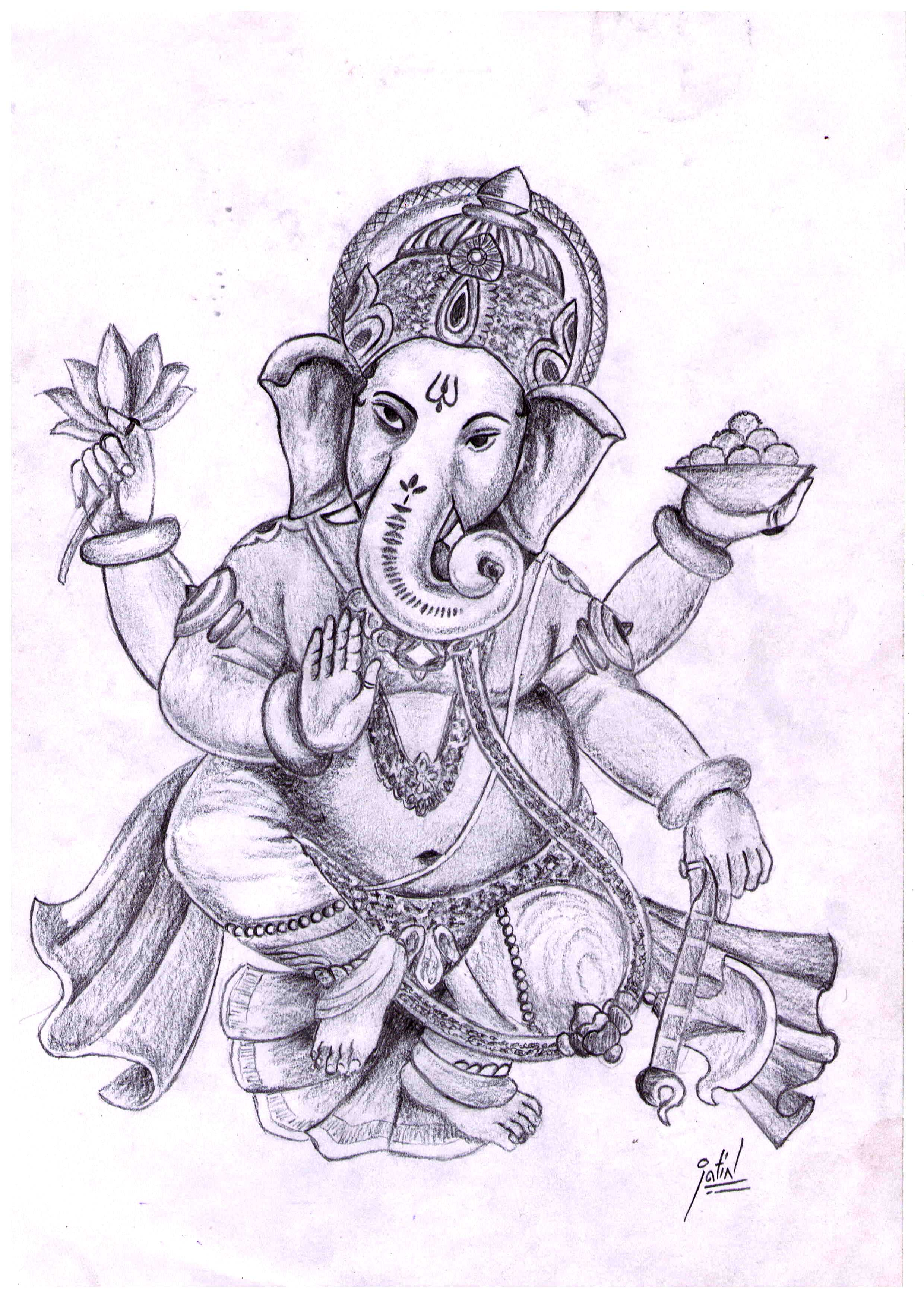 2480x3482 Pencil Sketch Of Lord Ganesha Best Collection Of Worldwide