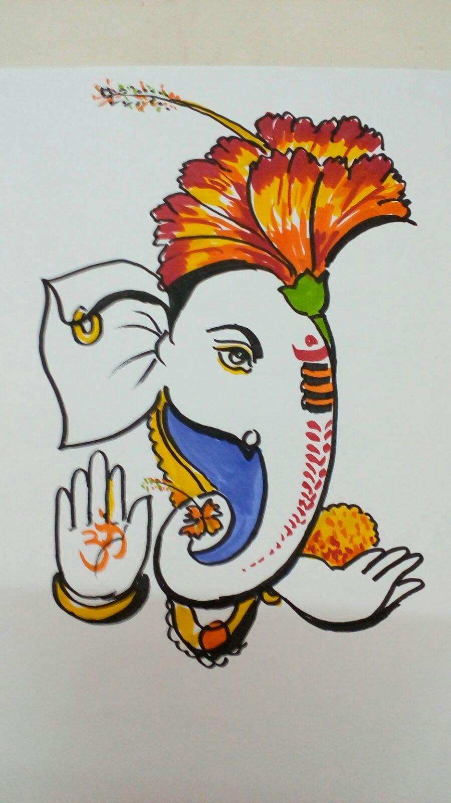 900x1600 How To Draw Ganesha Step By Step