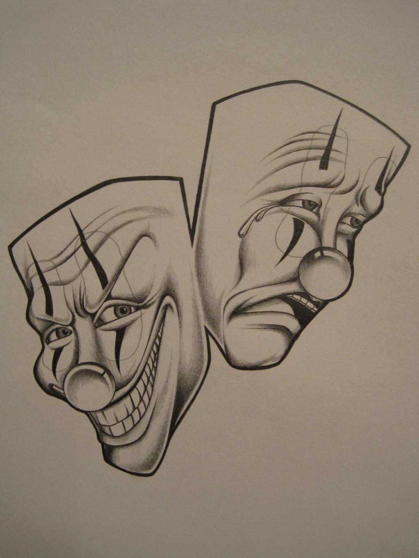 1024x1365 Gangsta Clown Drawings