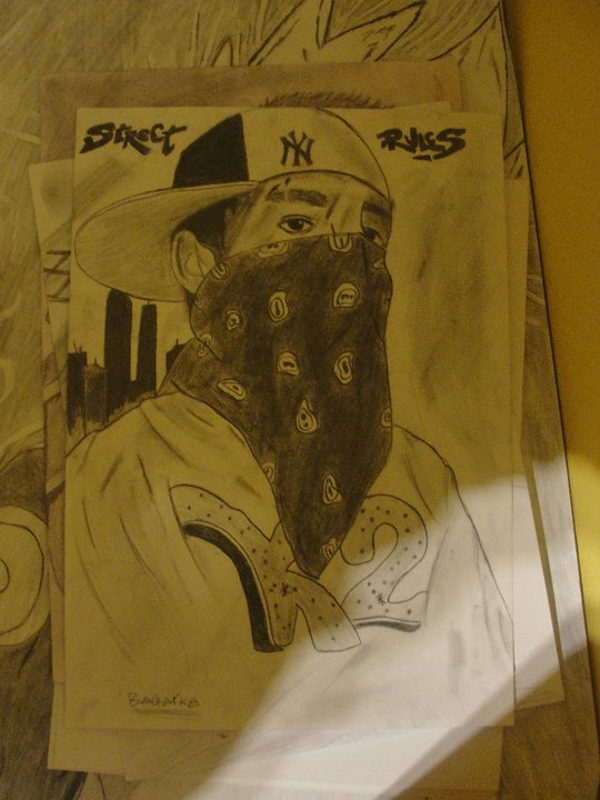 540x720 Gangsta Drawing By Tanya569