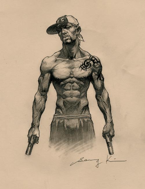 500x654 Drawing Gangsta