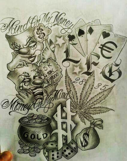 424x540 Gallery Gangsta Tattoo Drawings,