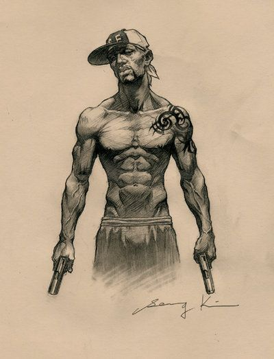 400x523 Gallery Gangster Sketches,