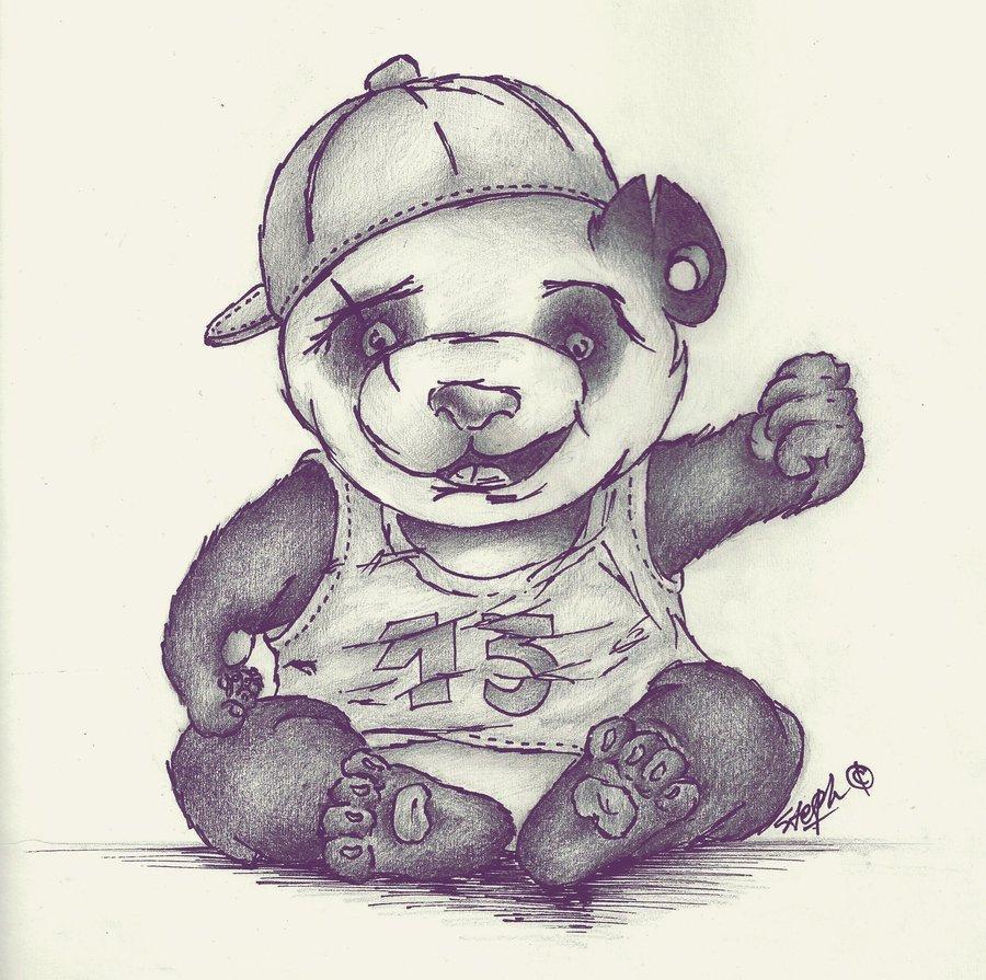 900x895 Nice Gangster Pencil Sketches Drawn Panda Gangster