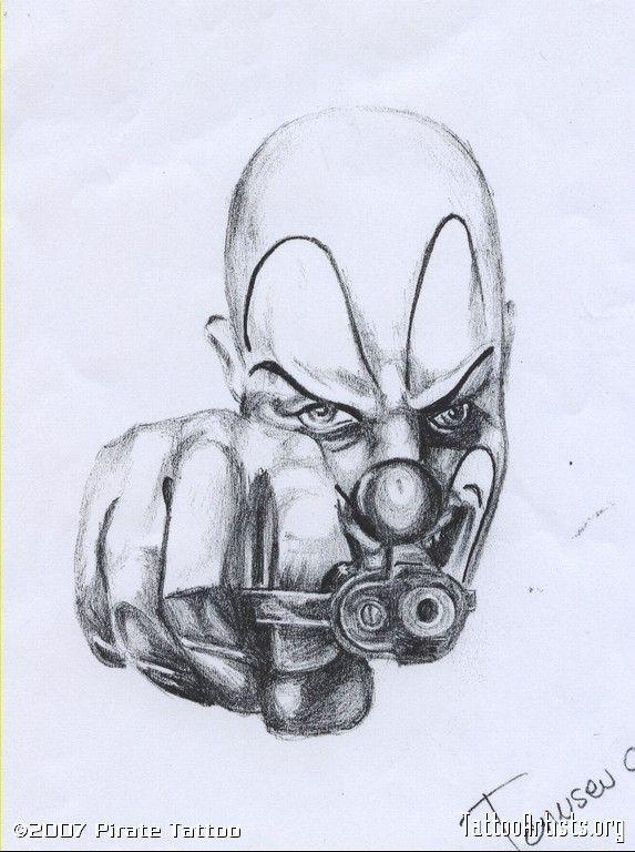 573x768 Pin By On Tattoo Clown Tattoo, Tattoo