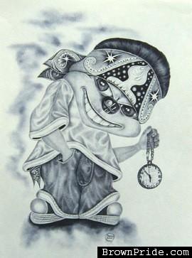 270x363 Sick Clown Drawing Dia De Los Muertos Art Sick