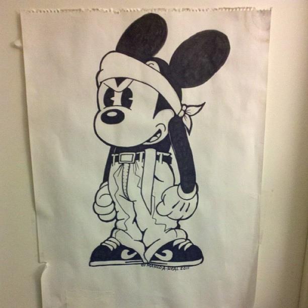 612x612 Cholo Mickey Mouse