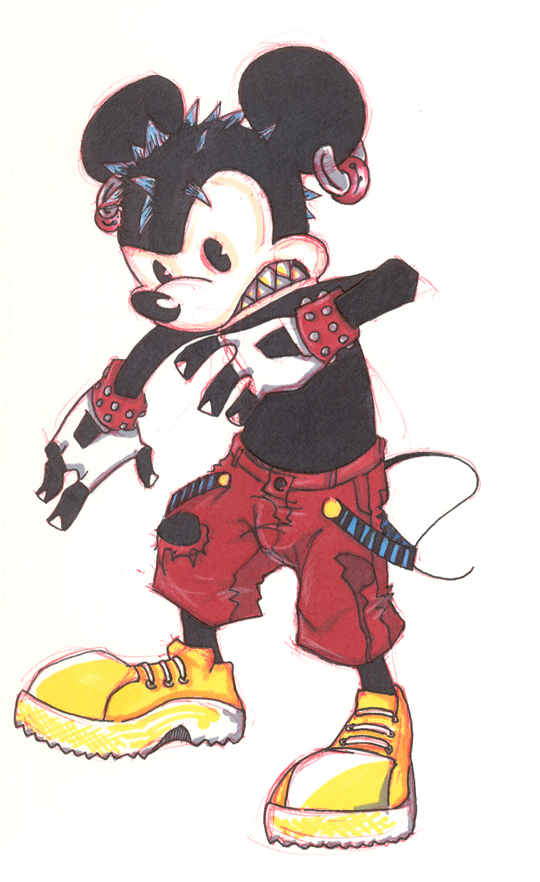 758x1237 Mickey Mouse Badass Revamp By Loeobot