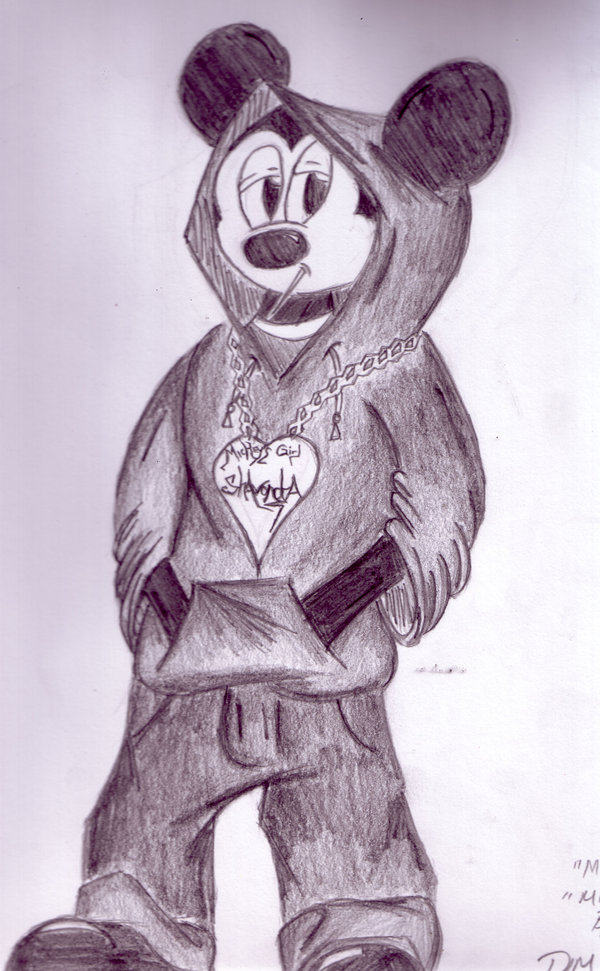 600x971 Mickey Mouse In The Hood By J Limit