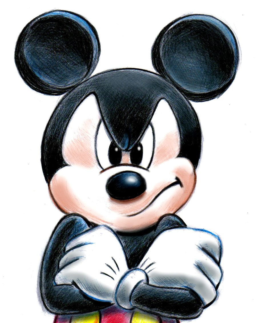 900x1131 Mickey Mouse Painting Mickey Mouse By ~zdrer456