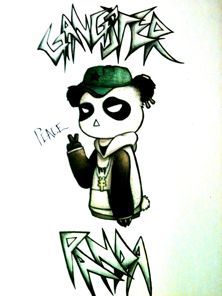 768x1024 Gangster Panda by clockworkpieces on DeviantArt