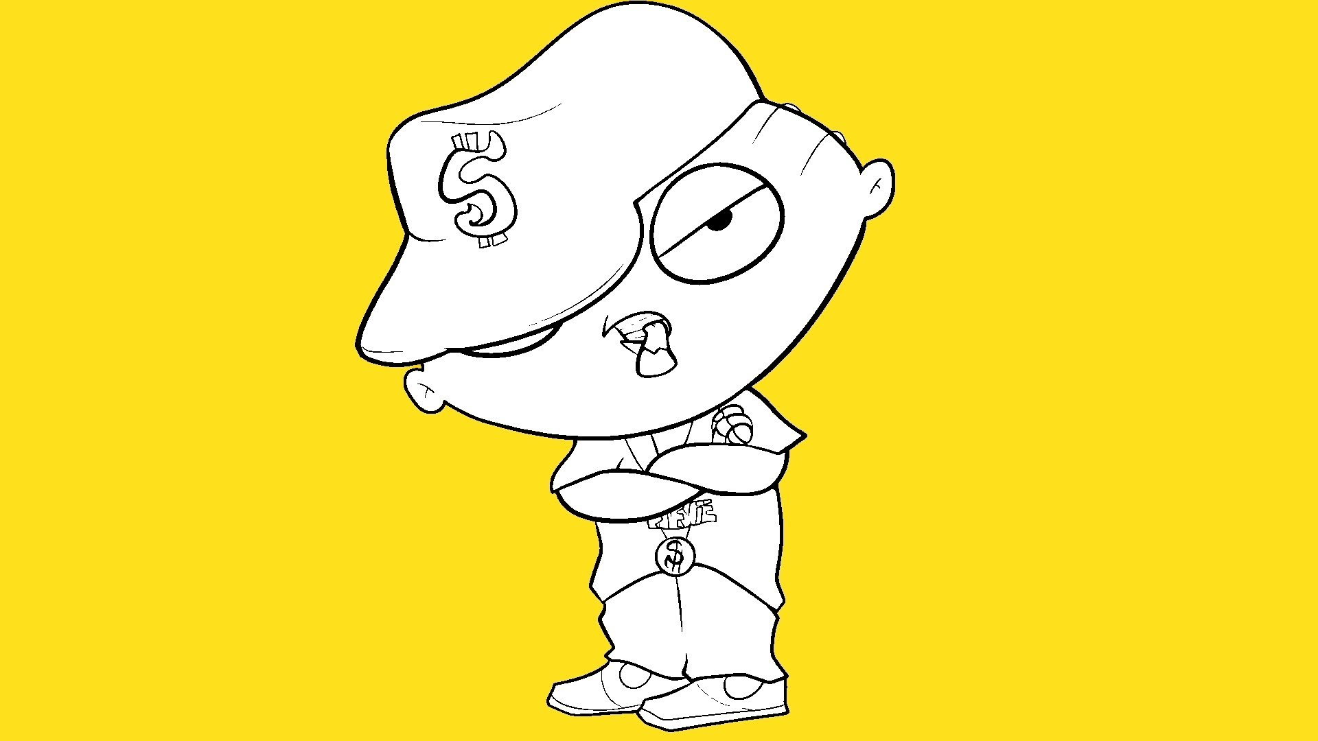 1920x1080 How To Draw Gangster Stewie Cartoon Pencil Drawing Gangsters Pic