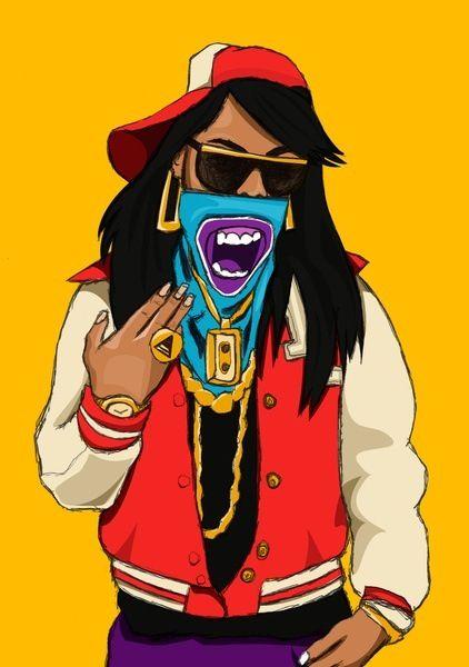 422x600 Swagg Gangsta Girl Thug Cartoon Girls Gangsta Girl