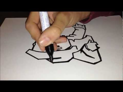 480x360 How To Draw Graffiti Character